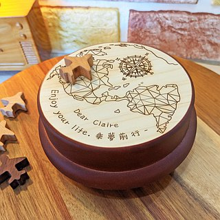 【Birthday Gifts, Memorial Gifts, Christmas Gifts】 Challenge World Americas ┇ Custom Music Box Memo Clip