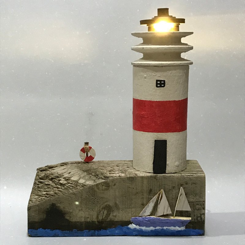 Lighthouse Light (USB plug) (unique decoration)