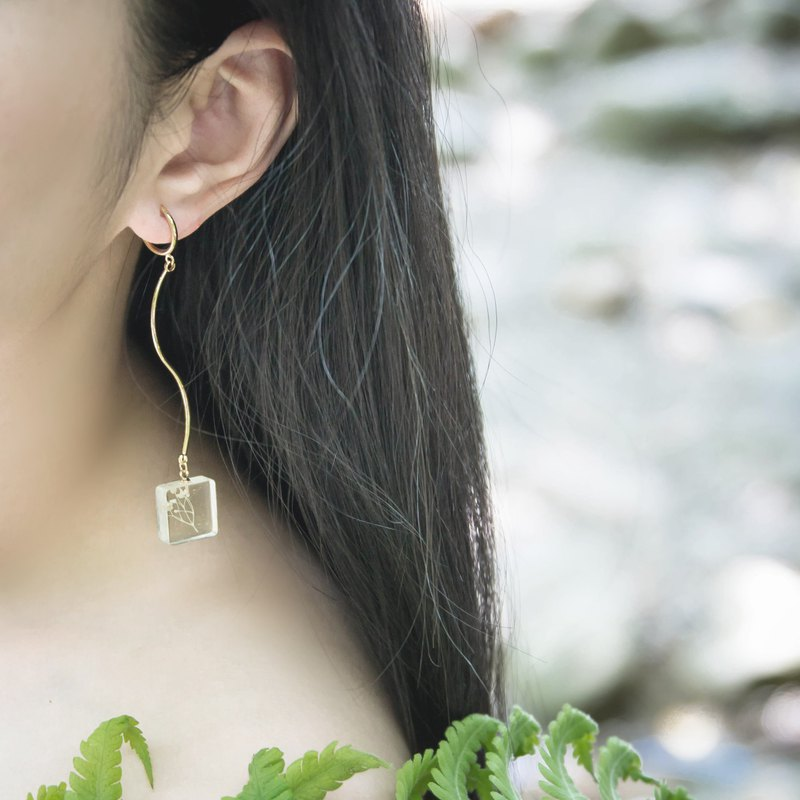 Forever long leaf clip earrings