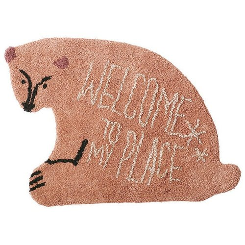 Welcom Bear-Welcome Bear style mats (coffee)