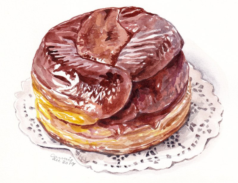"Original Watercolour Painting (7.5"" x 5.5"") - Tarte Tatin"