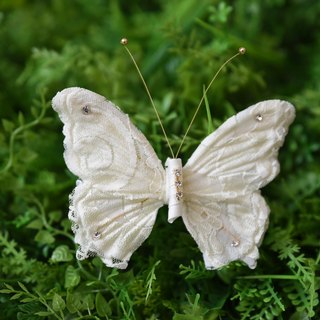 Butterfly hair ornaments white lace models