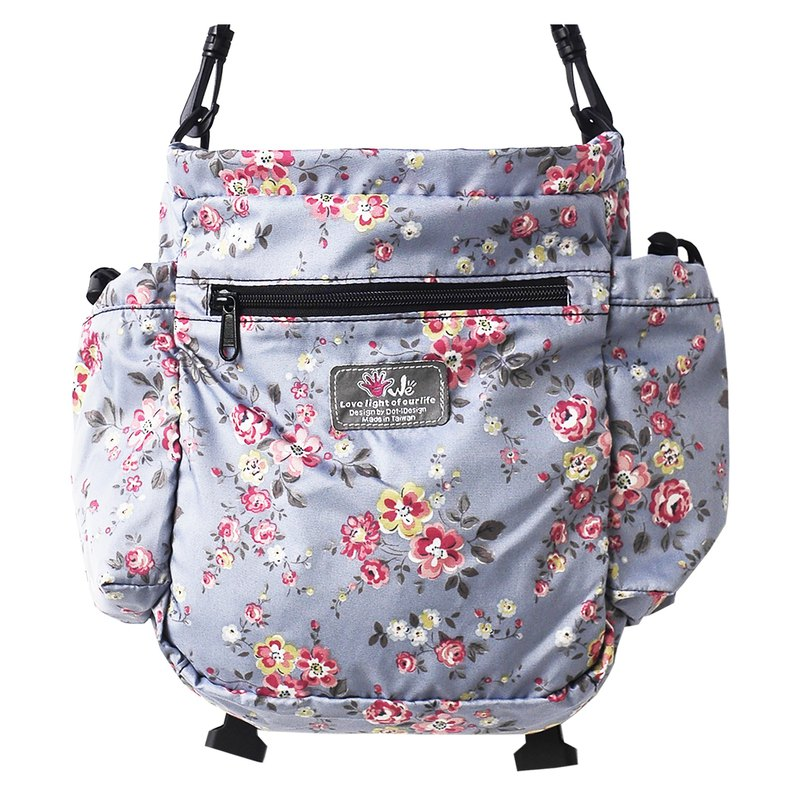 Welightbag ultra light multi-function back side back portable _ new parent-child couple package _ fine pink flower small