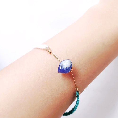 Summer limited- Handmade blue gemstone bracelet