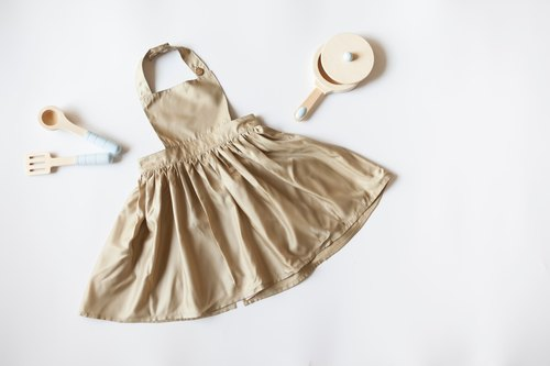 [my little princess] staff hand-made low-cost extravagant children aprons skirt _ Japan lightweight waterproof cloth