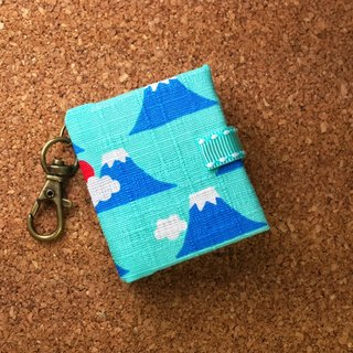 [Japan, Mount Fuji] 4 colors (powder blue) Mini phase key ring 5cmX4.3cm - custom small things
