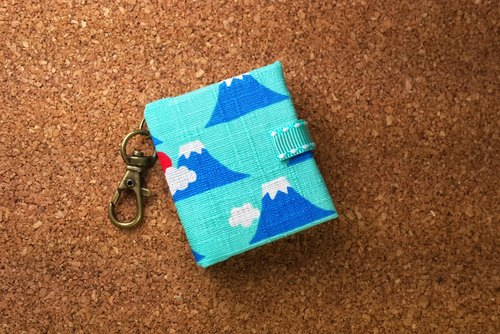 [4] Mount Fuji in Japan ‧ colors (light blue) mini key ring with this customized 5cmX4.3cm- small objects