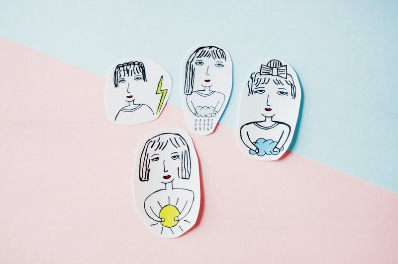 Cllare Stickers-Girl and Weather -1