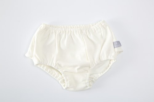 Organic cotton. Pink and soft girl pants - white