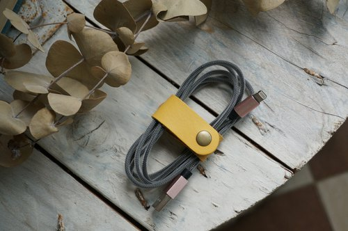 Yellow Long Hub / Take-up / Reel (Valentine's Day Mother's Day Father's Day Christmas Graduation Day Exchange Gift Typing Headphone Cord Charging Cable)