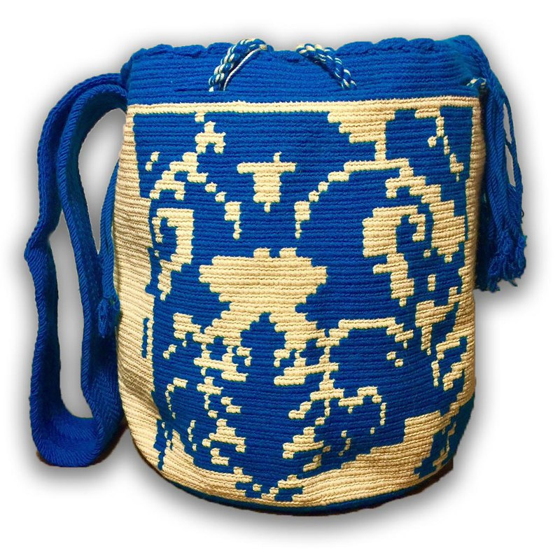 Wayuu Bag Wayou Bag (L) / Colombia handmade / only one per paragraph - [Lake Cloud Shadow]