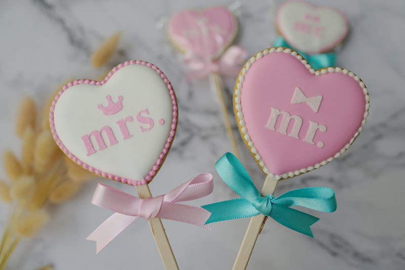 A natural pair (6 groups / 12 pieces) icing cookies / wedding small things / room raising