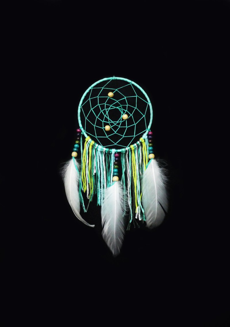 13x30 Forest Green Dream Catcher