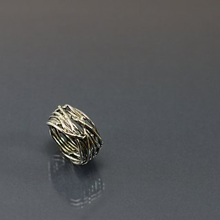 Hollow line 925 silver ring