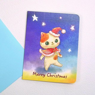 Christmas cat cat card (Christmas card)