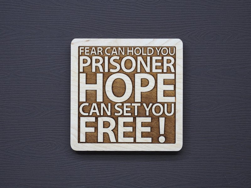 A word of wood coaster fear makes you a prisoner, hope to feel free