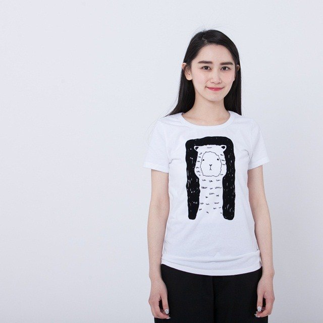 Alpaca peach cotton T-shirt Women