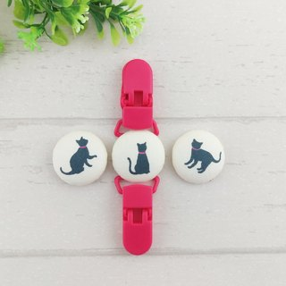 Fashion black cat - a total of 6 optional. Handkerchief clip / universal clip / toy clip / double head clip