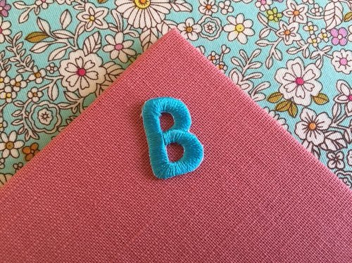 Capital letters B-self-adhesive embroidered cloth stickers