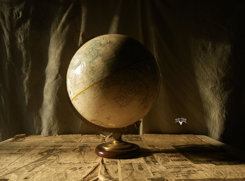 [Old Time OLD-TIME] Early American-made globe*Taiwan home country only post office*