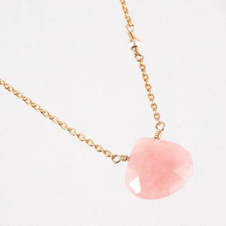 14KGF Pink Opal Necklace