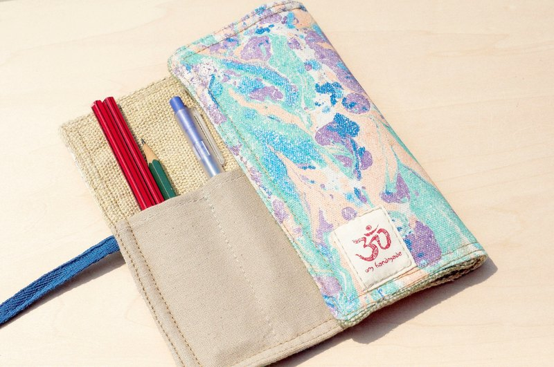 Hand-painted rendering Pencil / feel Reel / spring rolls Pencil - water color pen house 3 (blue strap)