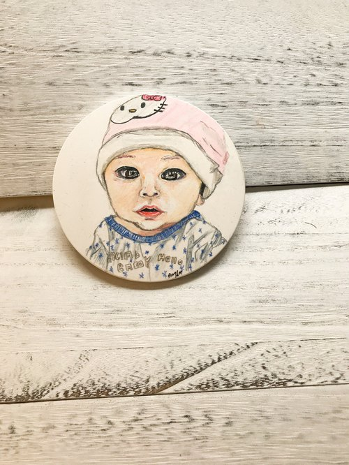 Sold/Hand painted ceramic coasters/artwork