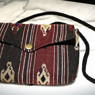AMIN'S SHINY WORLD Handmade Ethnic Tribal Seagull Copper Buckle Shoulder Bag