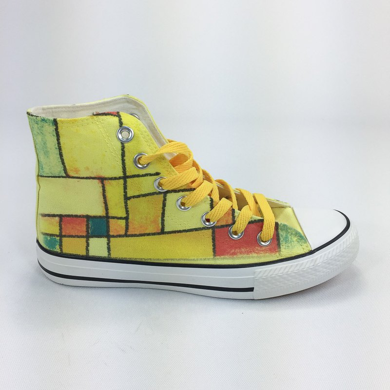 新 设 設計 系列 - 【Piet's Timeline】 -850Collections- Canvas Shoes (Yellow Shoes Yellow / Women's Limited Edition) -AH19