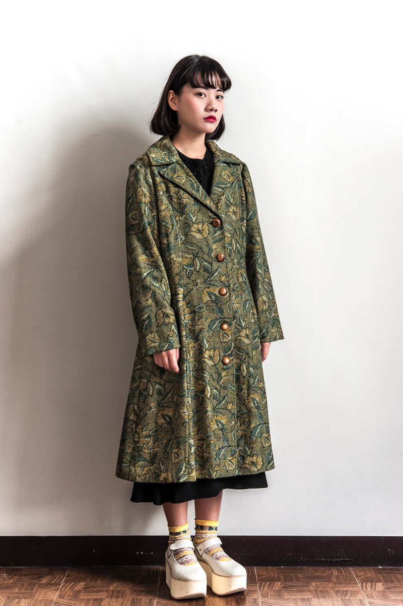 Vintage earth flowers and vintage coat