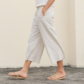 Creamy Paper Pants  / Cotton Linen Hemp