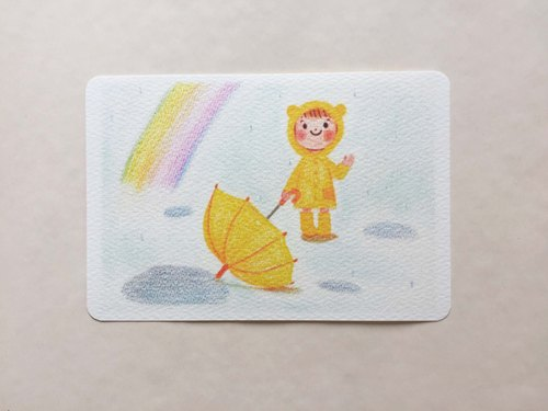 Rainbow rain postcard no.011