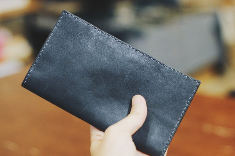 Make Your Choicesss Italian handmade leather card pack - long clip - Long Wallet
