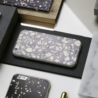FORM MAKER iPhone Case 6S / 7/8 Gray Terrazzo