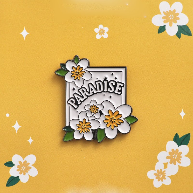 Draw My Paradise Brooch - Bloom