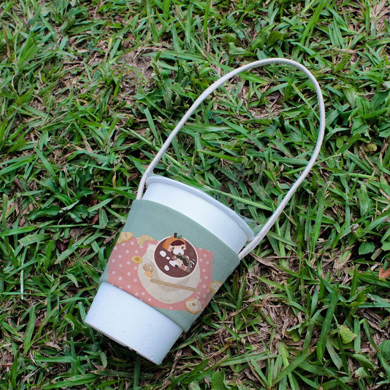 //Spot // Canvas drink bag - orange peel