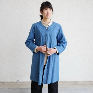 Ethical Hemp Spring Coat Japanese Indigo Dyeing