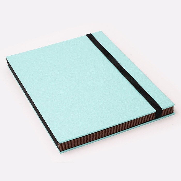 Three summer light years classic solid color strap books section DIY album creative gifts large rectangle (sky blue)