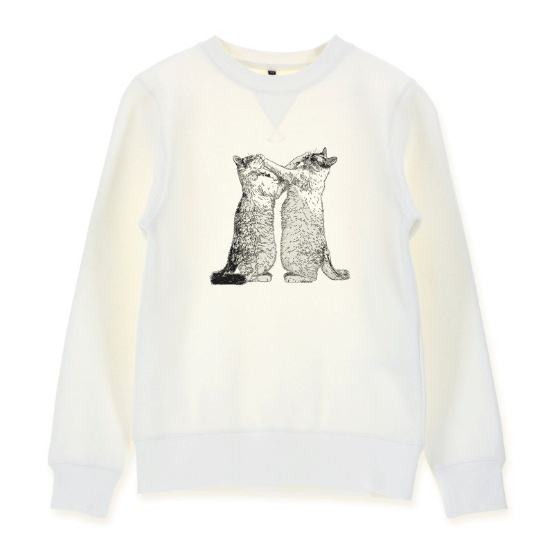 AMO®Original cotton adult Sweater/AKE/Cats Who Promised Each Other Never Hitting Face But Both Did Only Did It