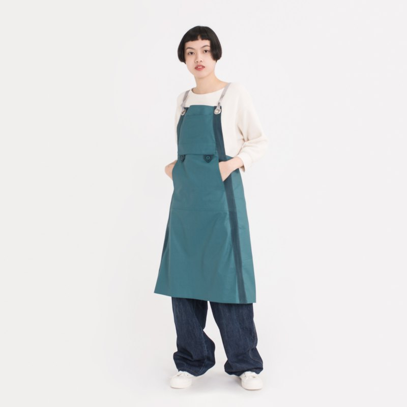 rin Urban Apron ACE-Light Green HANAASAGI Cotton Waterproof Professional Work Apron
