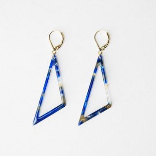 CircleDot Blue Amber Triangle Earring Earrings Earrings Earrings Earrings