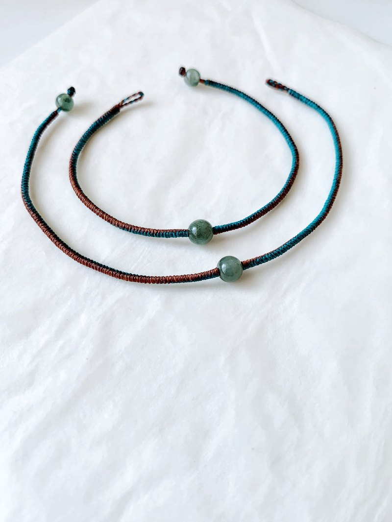 Oil Sapphire Mermaid Blue Green + Caramel Coffee Wax Line Bracelet Very Fine and Stable Loyalty to Your Courage and Confidence