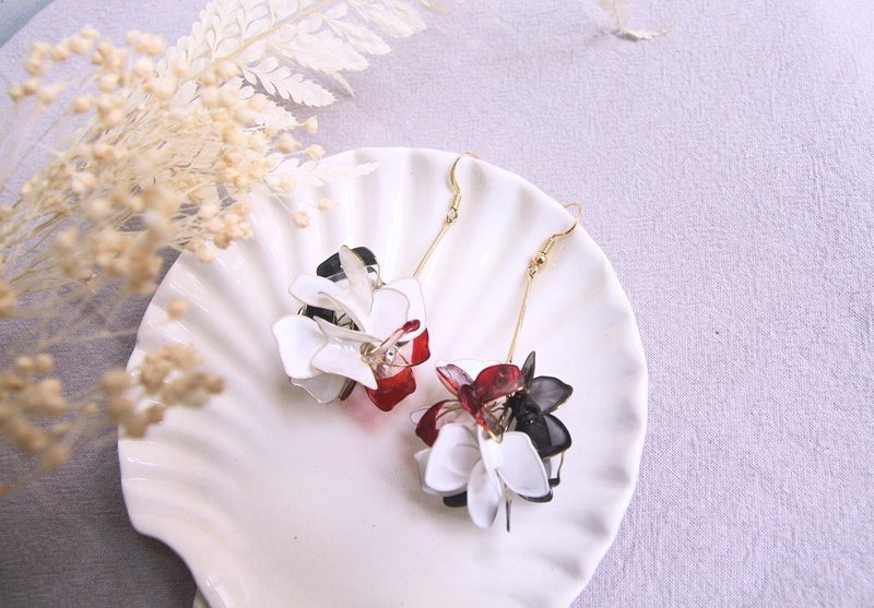 Pu Pufeng British handmade resin earrings ear clip