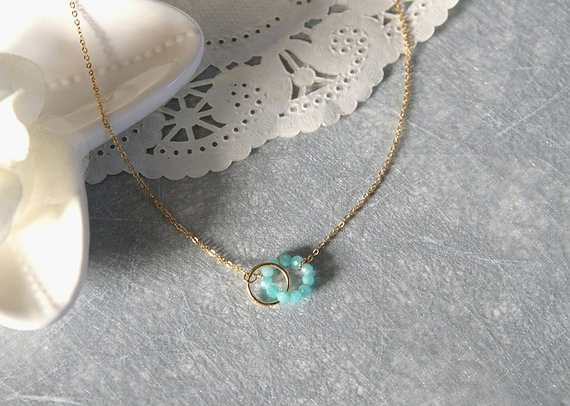 Tianhe stone necklace clavicle chain light jewelry graduation gift birthday wedding the most precious person ~ has always been