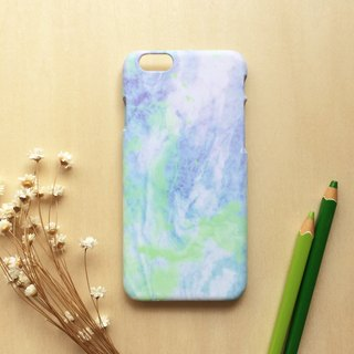 Blue and Green Marbling. Matte Case( iPhone, HTC, Samsung, Sony, LG, OPPO)
