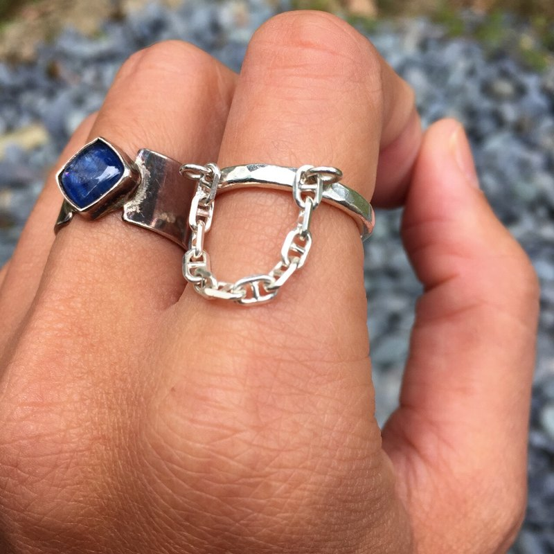 MIH Metalworking Jewelry | Love Chain Love Sterling Silver Ring