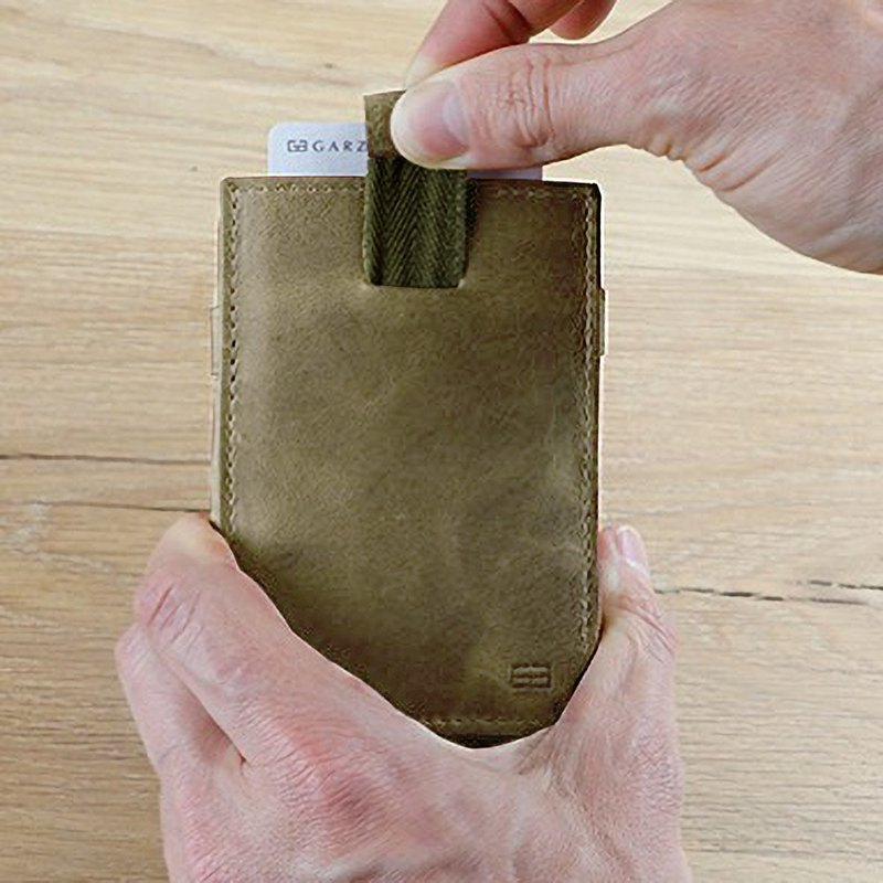 Folding wallet / real leather / with705