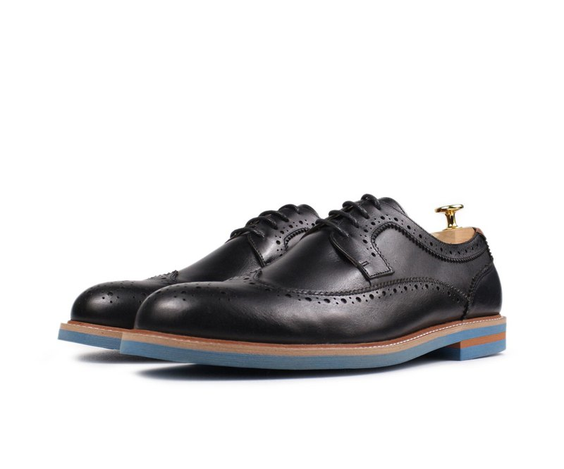 Blue rubber sole carved Oxford shoes-RX-10A