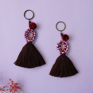 Saffron-Bohemia style tassel Hanging ornaments Key holder.