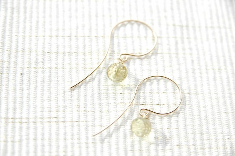 Lemon Quartz earrings (14 gold gf)